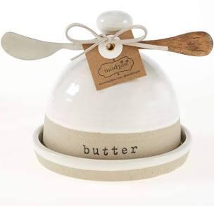 $24.00 Stoneware Butter Dish