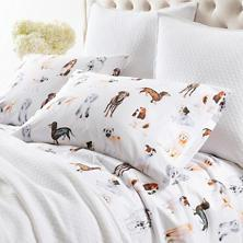 $326.00 Queen Woof Sheet Set