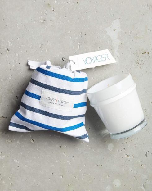 $28.00 Voyager Striped Sandbag Candle