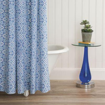$125.00 Lennox Blue Shower Curtain