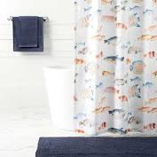 $116.00 Happy Fish Shower Curtain