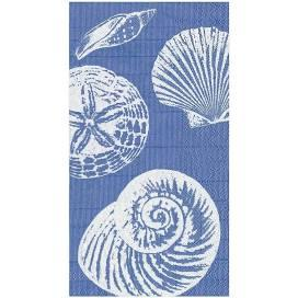 $8.95 Shells Paper Guest Towel Napkins in Blue