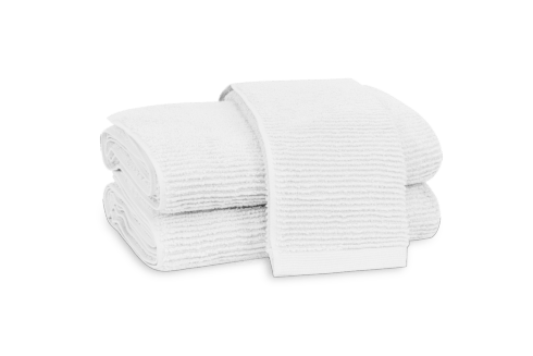 $59.00 Aman White Bath Towel