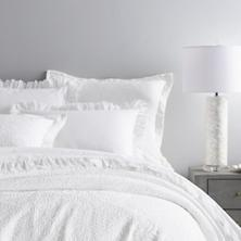 $290.00 Queen White Scramble Matelasse