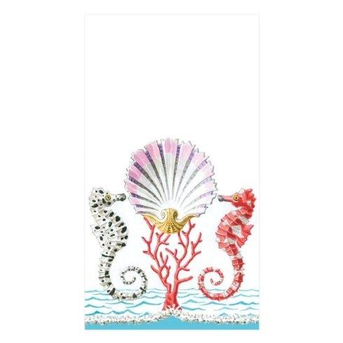 $8.95 Seahorses & Shell Paper Guest Towel Napkins