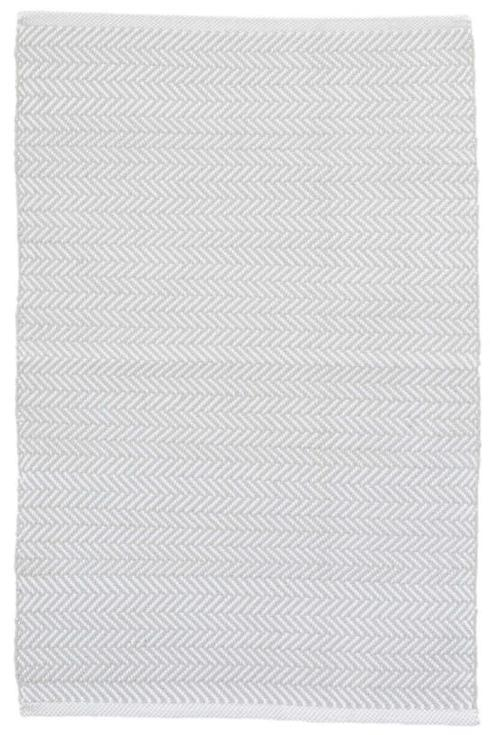 $56.00 Herringbone 2X3 Pearl Grey/White In/Out Rug