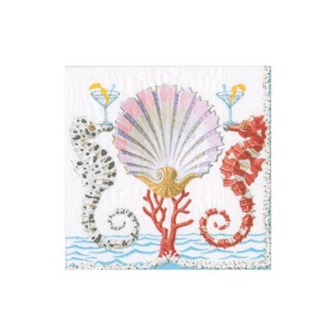 $6.95 Seahorses & Shell Paper Cocktail Napkins