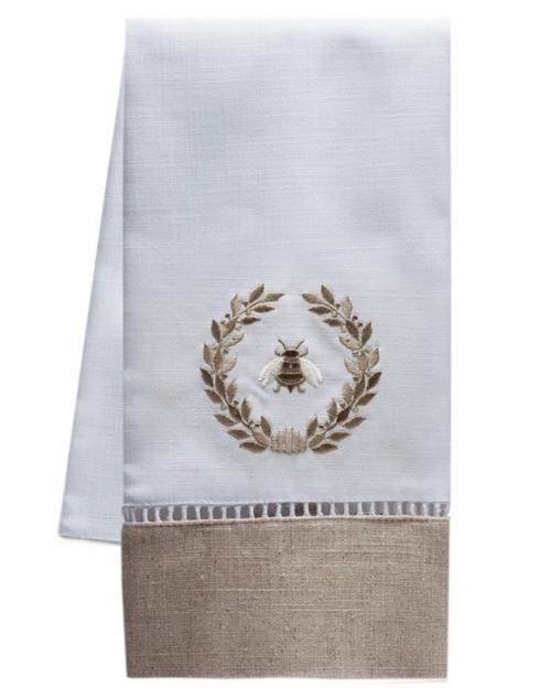 $40.00 Guest Towel Napolean Bee Wreath(Linen)