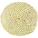 $10.50 Dahlia Round Gold Placemat