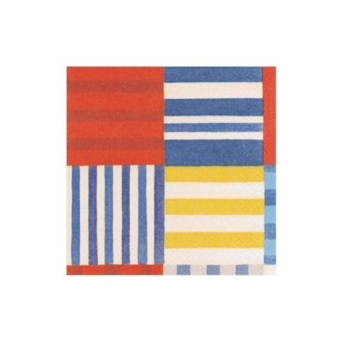 $6.95 Striped Patchwork Paper Cocktail Napkins