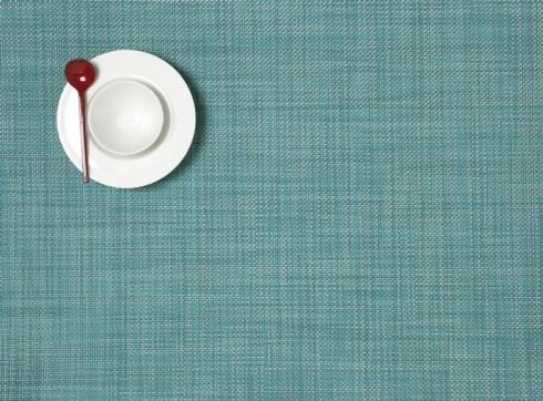 $15.00 Mini Basketweave  Rect. Turquoise Placemat