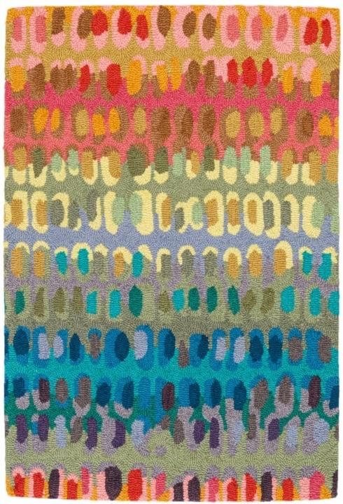 $296.00 Paint Chip 3X5 Hooked Wool Rug