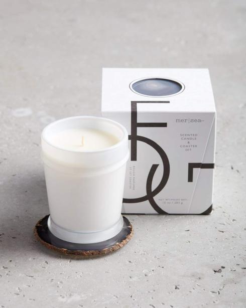 $48.00 Fog Boxed Candle & Agate Coaster
