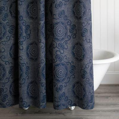 $125.00 Keiko Navy Shower Curtain