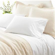 $60.00 Pair Std. Classic White Hemstitch Pillowcases