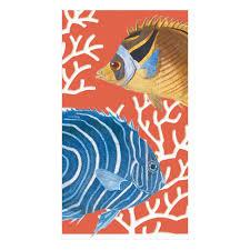 $8.95 Coral Reef Paper Guest Towels