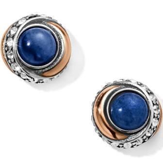 Neptune's Rings Brazil Blue Quartz Button Earrings collection with 1 products