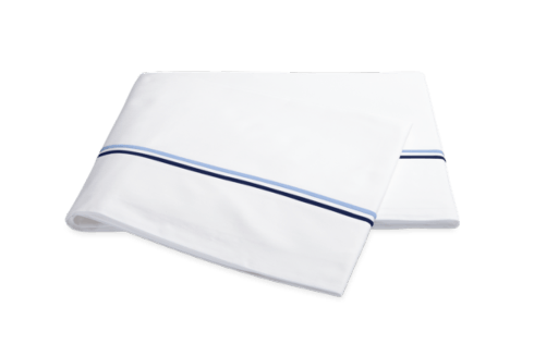 $125.00 King Essex Navy Flat Sheet