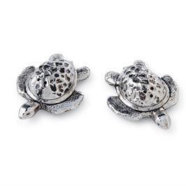 $18.00 Metal Turtle S&P Set