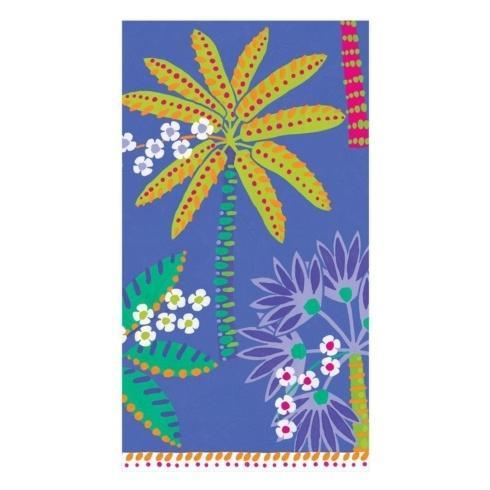 $8.95 Paradise Palms Blue Paper Guest Towels