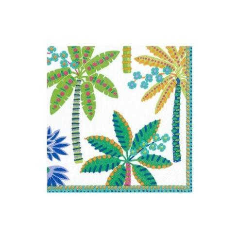 $6.95 Paradise Palms Paper Cocktail Napkin  White