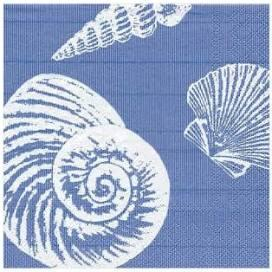$6.95 Shells Paper Cocktail Napkins in Blue