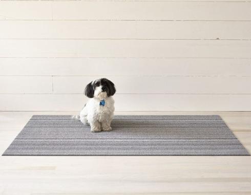 $55.00 Skinny Stripe Shadow Shag 18X28 Doormat