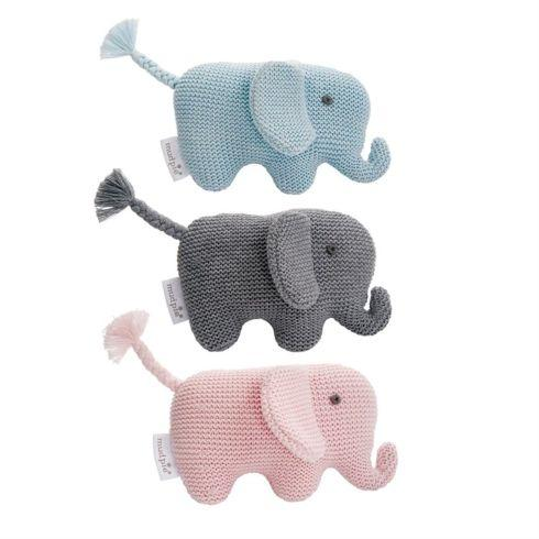 $10.95 Knit Elephant Rattle