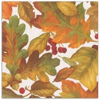 $6.95 Autumn Leaves Paper Cocktail Napkins
