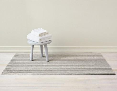 $55.00 Skinny Stripe Birch Shag 18X28 Doormat