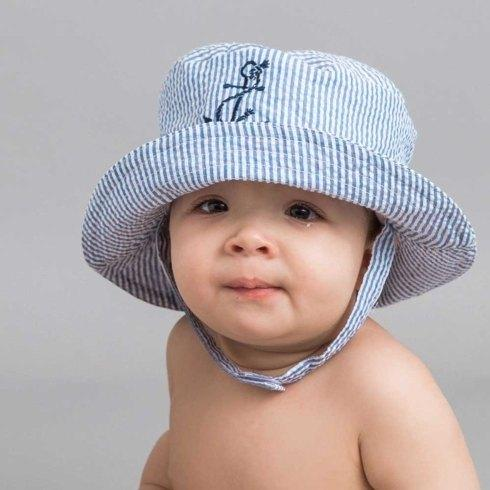 $19.00 Lg Anchor UPF25+ Seersucker Hat 12-24mos