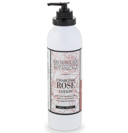$28.00 Charcoal Rose 18oz. Lotion