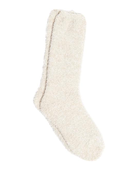 $15.00 COZYCHIC HEATHERED WOMEN\'S SOCKS/STONE & WHITE