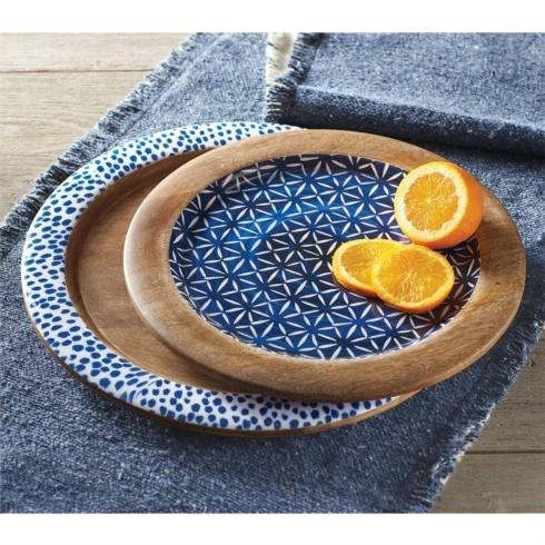 Lg Indigo Wood Tray collection with 1 products
