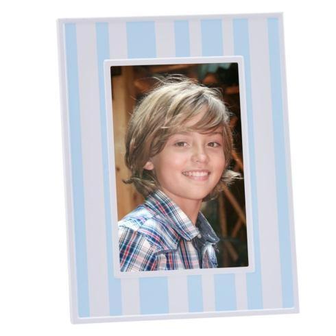 "$25.00 Blue & White Striped 4"" x 6"" Photo Frame"