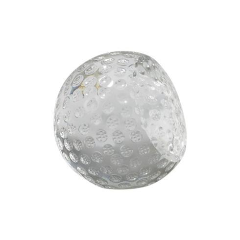 "$0.00 GLASS GOLF BALL SHAPED PAPERWEIGHT, 2"""