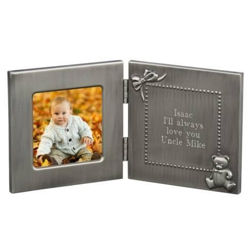 $35.00 HINGED BABY FRAME & ENGRAVING MESSAGE