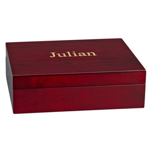 $45.00 JULIAN STYLE ROSEWOOD FINISHED WOOD BOX
