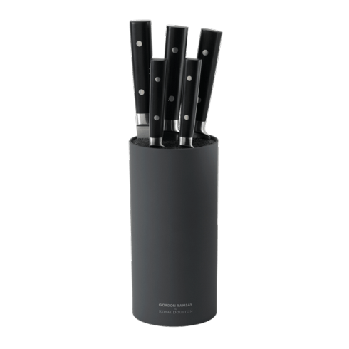 $123.00 Kitchen Black 6-Piece Knife Block Set