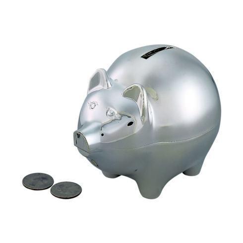 $40.00 LARGE PIGGY BANK WITH POLISHED FINISH