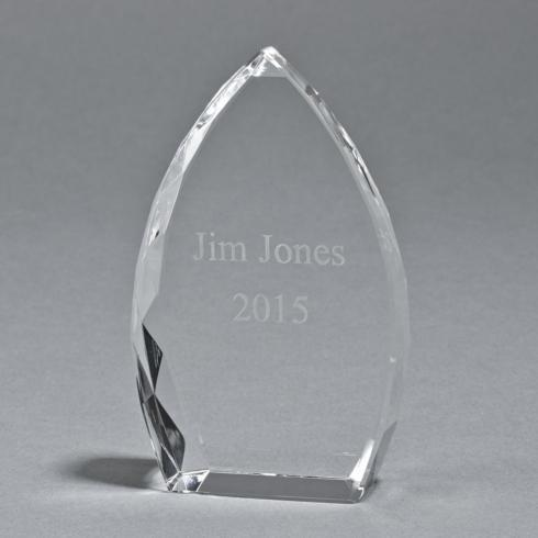 """$0.00 OPTIC CRYSTAL TROPHY POINT, 7"""" HT"""