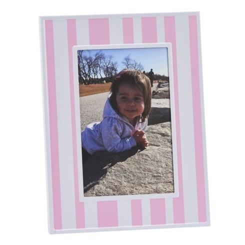 "$25.00 Pink & White Striped 4"" x 6"" Photo Frame"