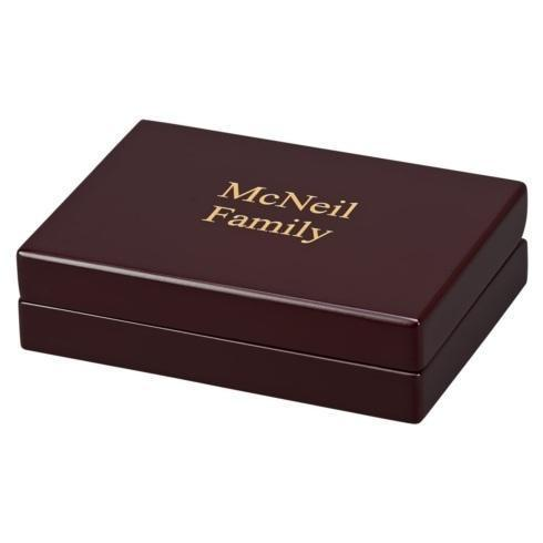 $45.00 ROSEWOOD FINISHED BOX WITH 2 DECKS OF PLAYING CARDS