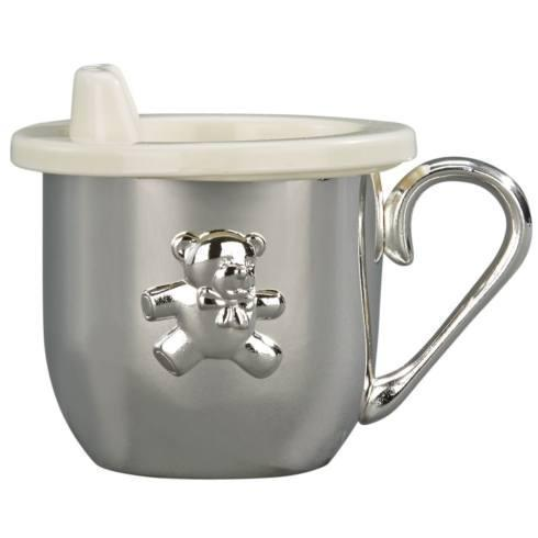 $35.00 SILVERPLATED BABY CUP WITH CUP & SIPPY LID INSERT