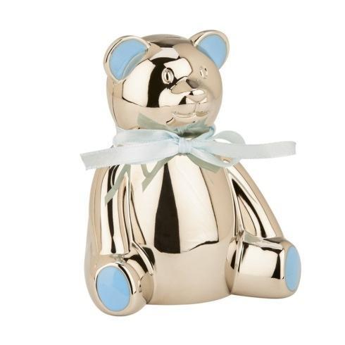 """$35.00 Teddy Bear Bank with Blue Highlights, 4"""" H"""