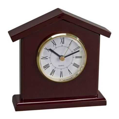 $55.00 WOOD TOWER SHAPED CLOCK WITH PIANO FINISH