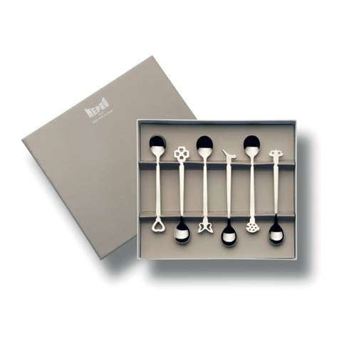 $32.00 Gift Box 6 Pcs Moka Spoons
