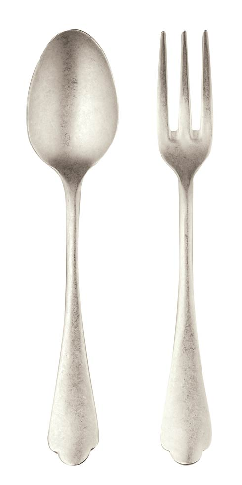 $147.84 Serving Set (Fork And Spoon) Champagne