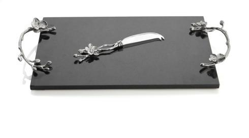 Michael Aram  White Orchid Cheese Board W/ Knife $200.00
