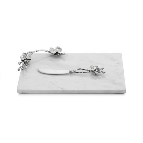 Michael Aram  White Orchid Small Cheese Board w/ Knife $135.00